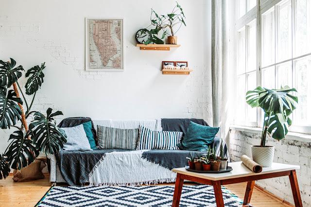 Desain Interior Ruang Tamu Minimalis Dengan Wallpaper
