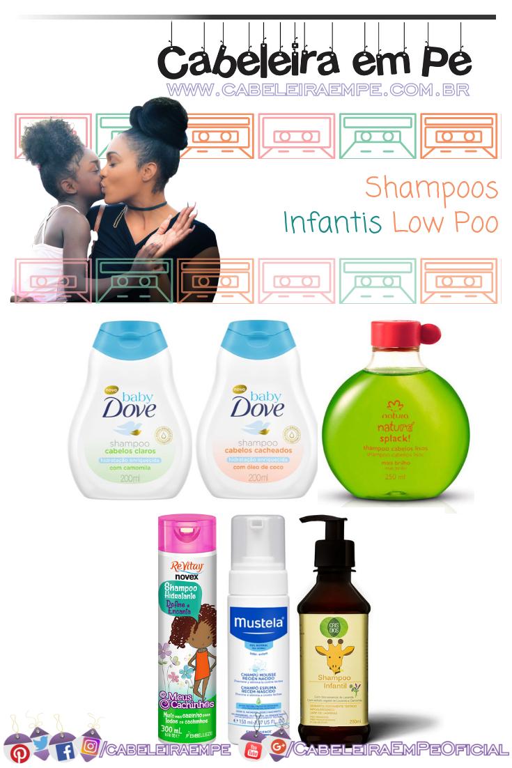 Shampoos Infantis sem sulfato das marcas Dove Baby, Natura, Embelleze, Mustela e Cris Dios - Produtos Low Poo Infantil