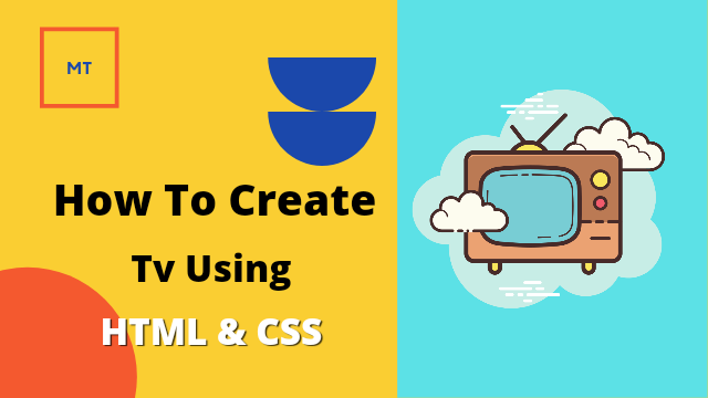 Create Television using HTML and CSS