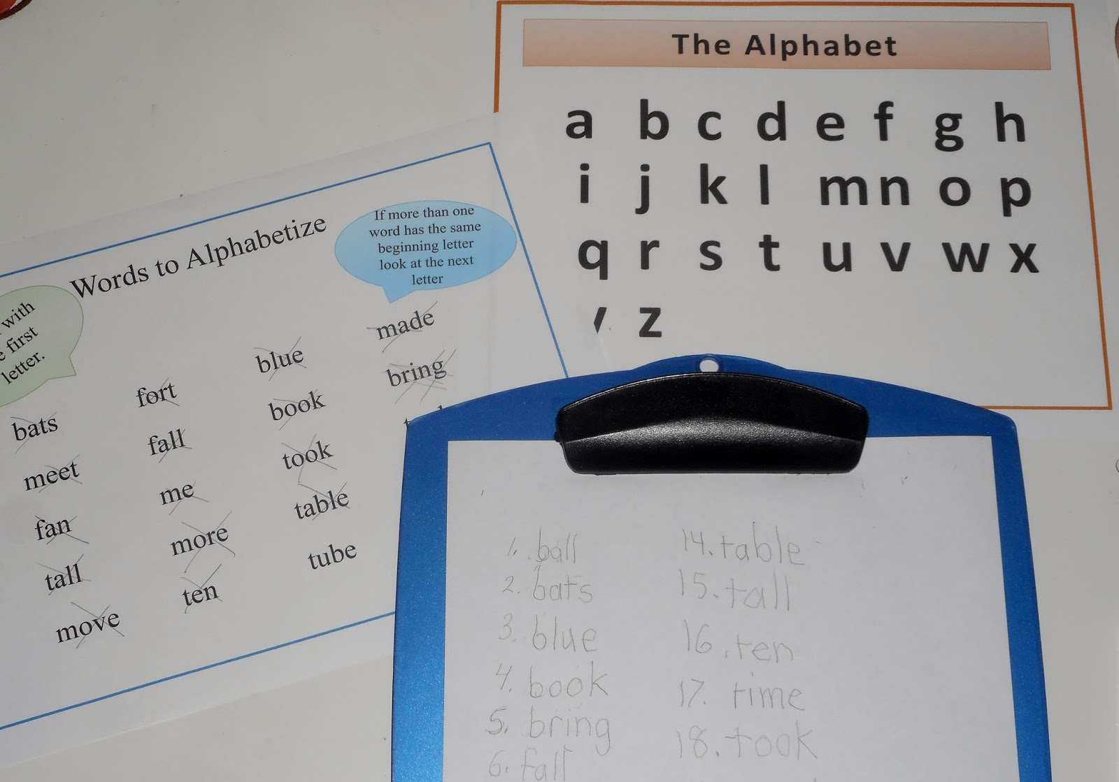 ReadingSuccess Learning How To Alphabetize