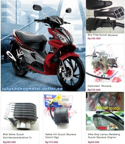Suzuki Skywave 125 parts