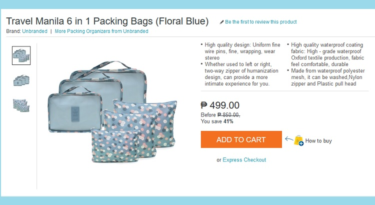 The Budget Fashion Seeker - Lazada Travel Manila Packing Bag