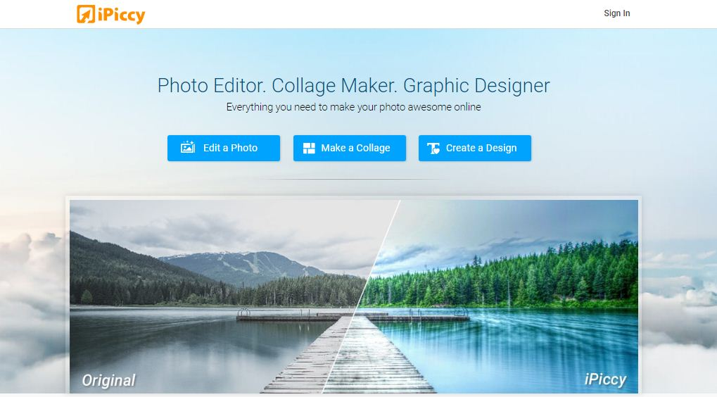 ipiccy online picture editor