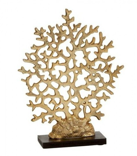 Gold Coral on Stand