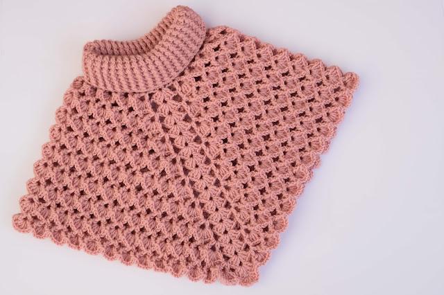 3-Crochet Imagenes Poncho cuello de tortuga a crochet y ganchillo por Majovel Crochet