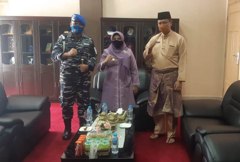 Danpom Lantamal IV Courtesy Call ke Unsur FKPD Kota Tanjungpinang
