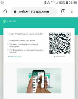 Whatsapp web di hp