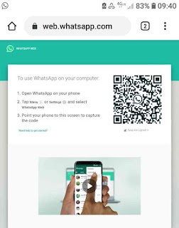 Buka web whatsapp