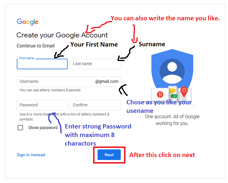 How to create a new gmail account free