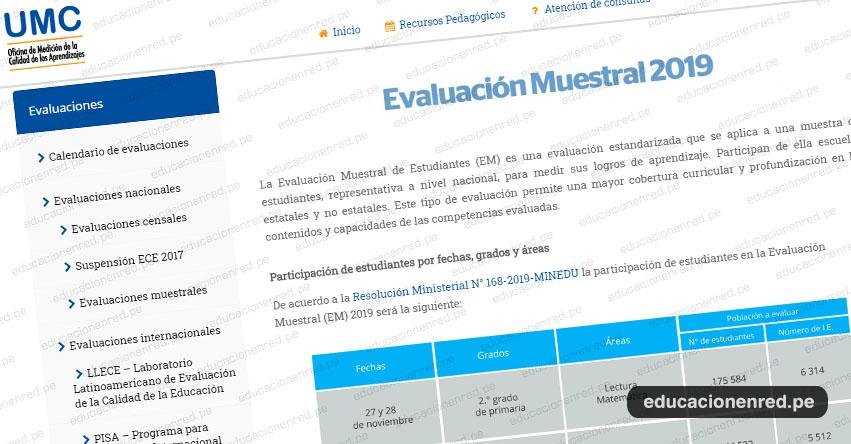 EM 2019: Hoy se inicia la Evaluación Muestral de Estudiantes a nivel nacional - www.minedu.gob.pe