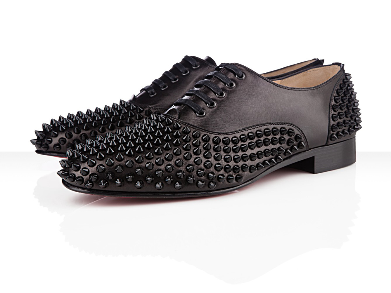 60d7527c18d Christian Louboutin Fall Winter 2012 Rollerboy Patent Black Spikes –  1395.  Familiar much  This version has been repeated in full black but has patent  ...