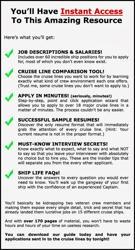 onebestjob: Job Sea -Work On A Cruise Ship