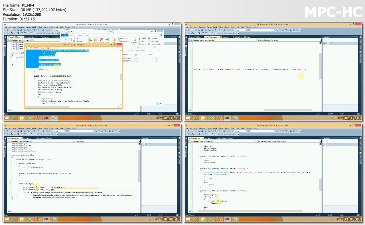 Video hướng dẫn Viết phần mềm quản lý bán hàng bằng C# + Source