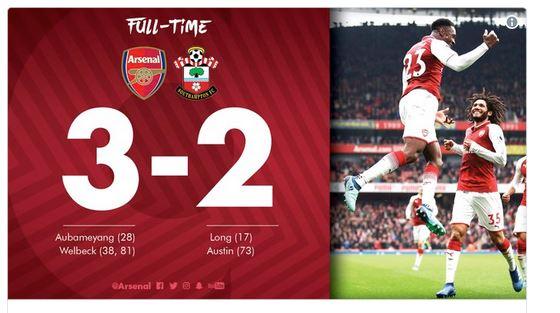 Video: Arsenal 3 – 2 Southampton [Premier League] Highlights 2017/18