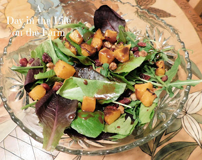 Fall Salad with Chocolate Vinaigrette