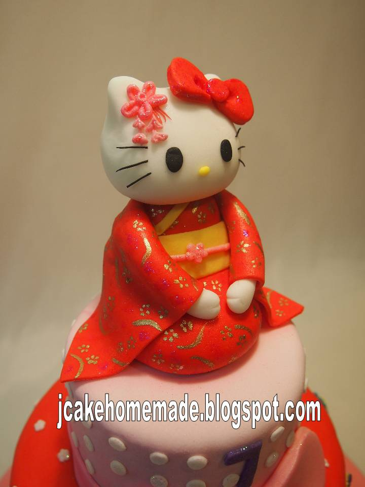 Jcakehomemade Hello Kitty Birthday Cake
