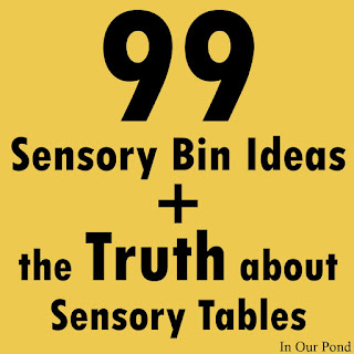 The Truth about Sensory Tables (a sensory gift guide- part 1) from In Our Pond