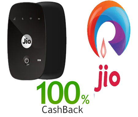 Jio Offers 100% Cashback Purchase JioFi New Offer