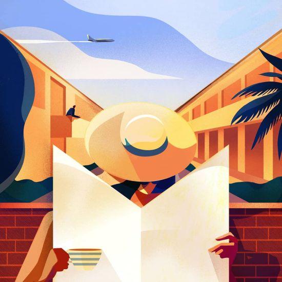 Charlie Davis arte ilustrações singelas estilizadas nostalgia minimalismo