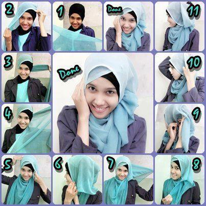 Tutorial Hijab Segi Empat Simple Beauty G