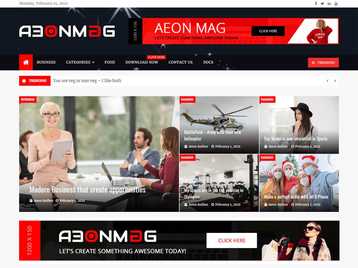 AeonMag Ücretsiz Magazin Teması