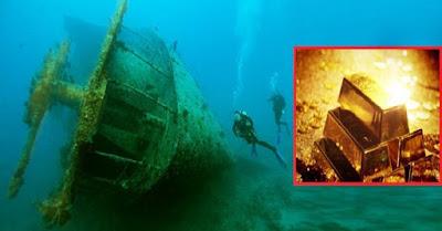 العثور على سفينة روسية غارقة تحمل 200 طن من الذهب