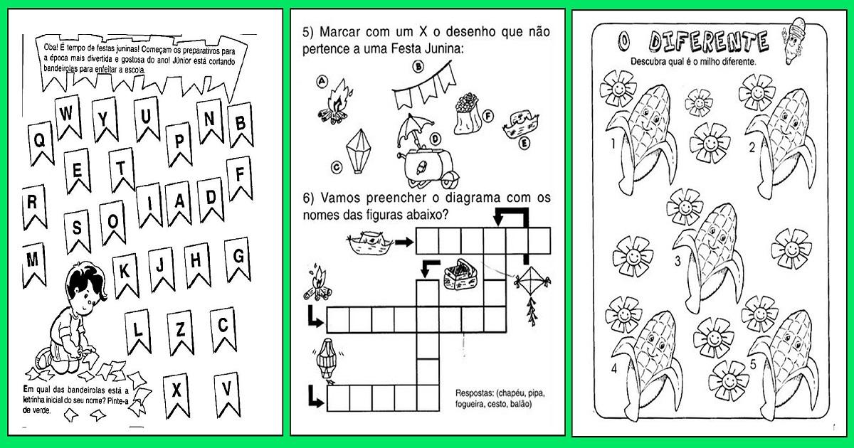 Atividades Festa Junina Para Educação Infantil Só Escola