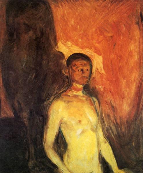 Эдвард Мунк - Автопортрет в аду. 1903