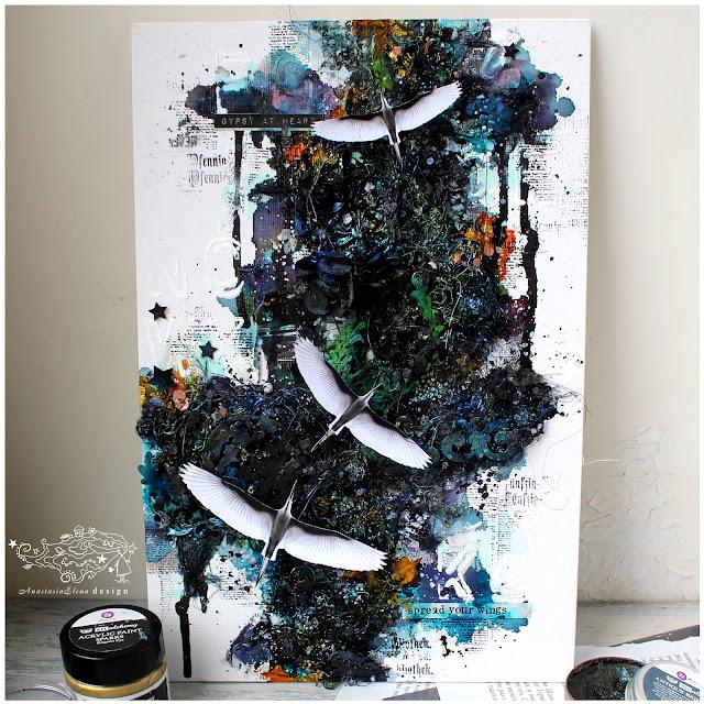 @nastyalena #mixedemedia #canvas #scrapbooking