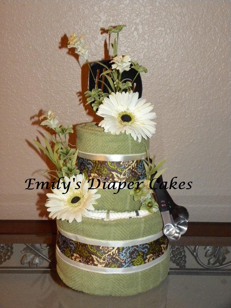 Small Wedding Towel Cake Ideas