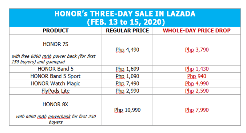 HONOR Valentine's Sale - Lazada