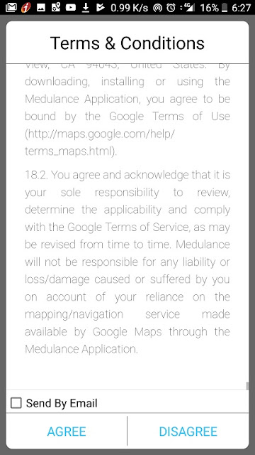 medulance app terms and conditions