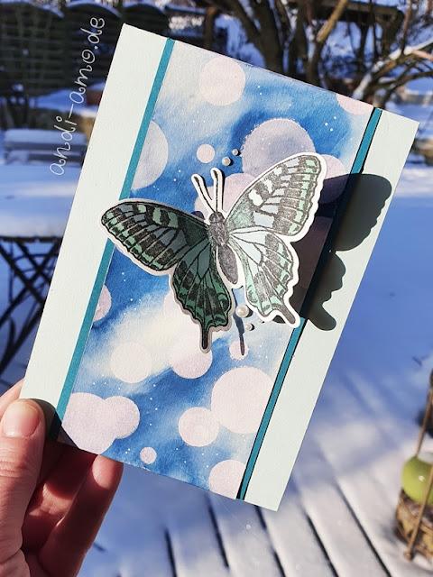 Schmetterlings-Karte Butterfly Brilliance Stampin Up