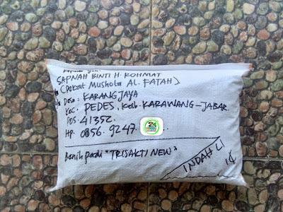 Benih pesanan SAPNAH Karawang, Jabar.    (Setelah Packing)