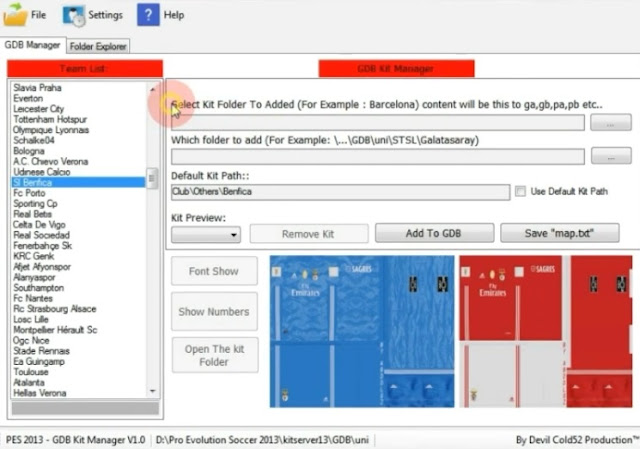 PES 2013 GDB Kit Manager by Devil Cold52