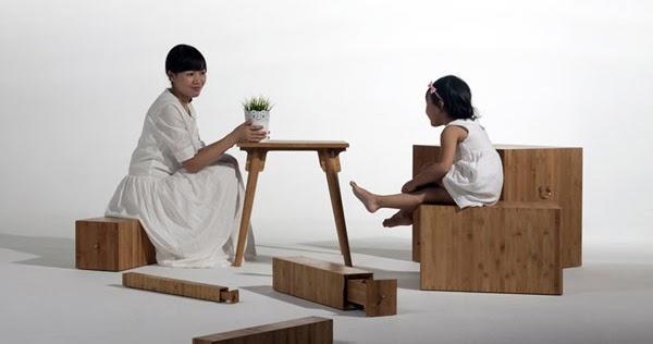 Cinco ejemplos de muebles transformables espacios en madera for Ejemplos de muebles ergonomicos