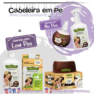 Condicionador, Creme Multifuncional, Máscara (Liberados para Low Poo), Spray Texturizador e Óleo de Coco (liberados para No Poo)  Hawaiian Coconut - PinaPow
