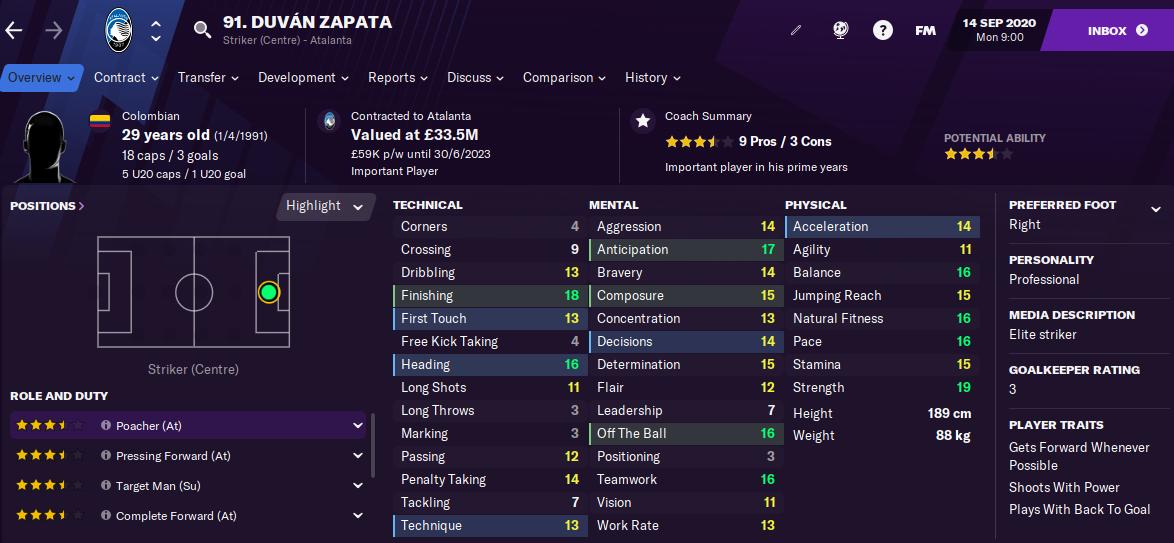 FM21 Duvan Zapata