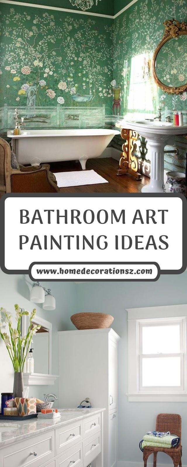 BATHROOM ART PAINTING IDEAS