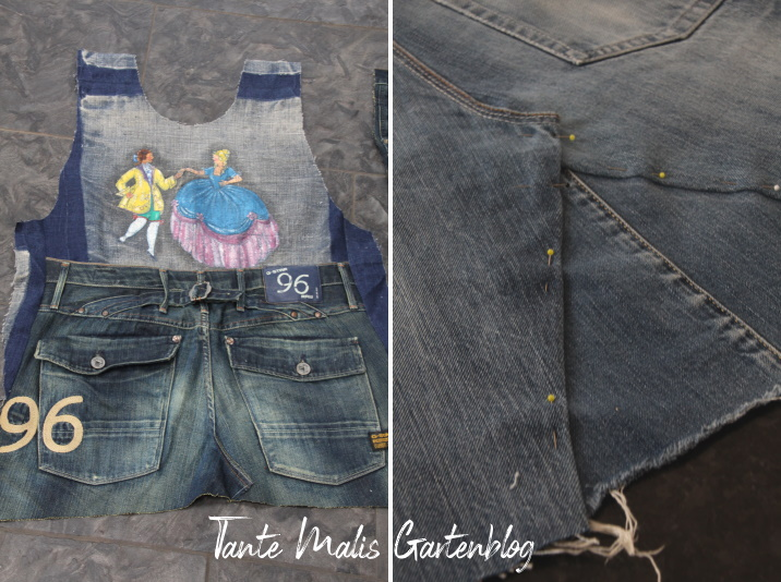 Jeans Schürze