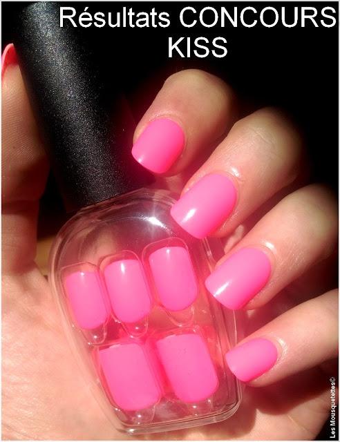 Résultats concours KISS nails - Blog beauté Les Mousquetettes©