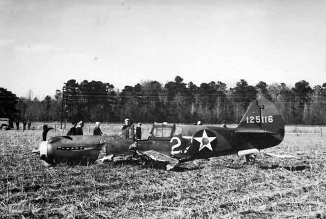 P-40 of the 38th Pursuit Group after crashing on 12 April 1942 worldwartwo.filminspector.com
