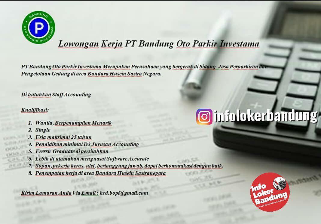 Lowongan Kerja PT. Bandung Oto Parkir Investama Bandung Oktober 2019