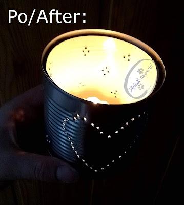 Adzik tworzy - świecznik DIY z puszki aluminiowej