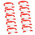 ❤ The best Xinlinke Pack of 10 Mini Small Kite Reel Winder Grip Line Board Red with 30m String for Kids Children Beginner Fly Tiny Kites ✌ 2019