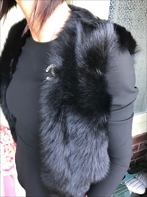 My Midlife Fashion, Chanel crystal brooch, the white company reversible sheepskin gilet, zara peplum top, whistles cropped kick flare trousers, boden leopard print animal boots