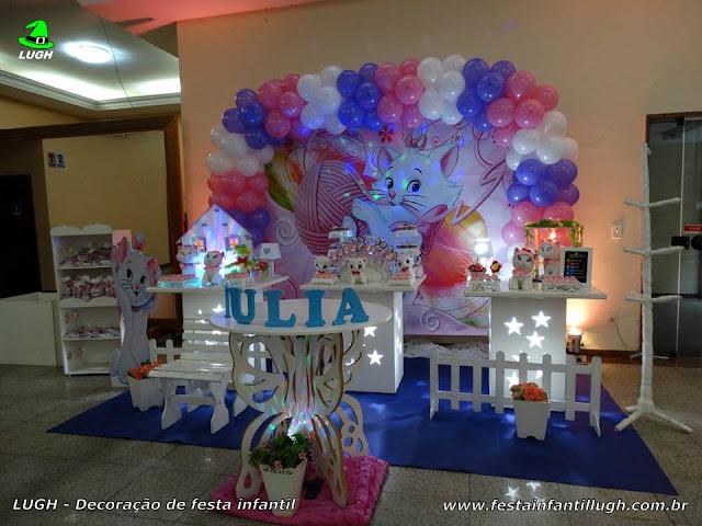 Decoração infantil Gata Marie - Festa de aniversário - Provençal simples