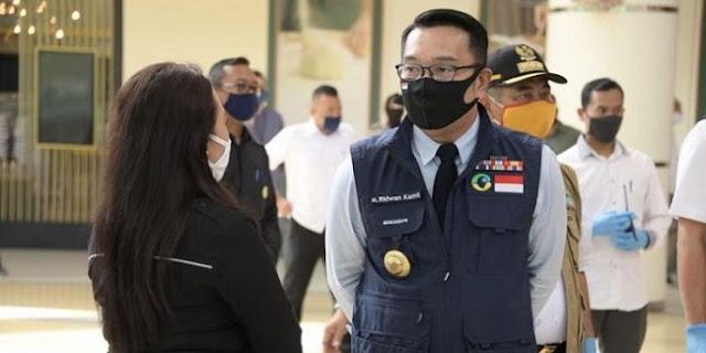 Soal Denda Tak Pakai Masker, Ridwan Kamil Akui Sebagai Pilihan Terakhir