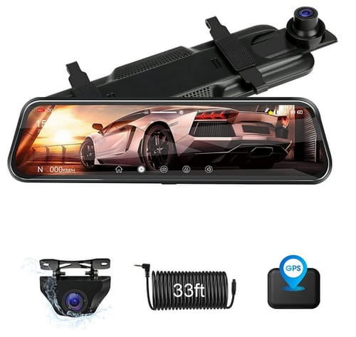 Jansite FHD IPS Full Touch Screen Mirror Camera