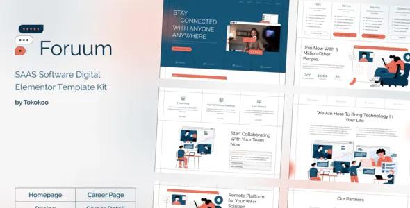 Best SaaS & App Elementor Template Kit